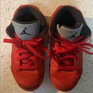 Jordan 5 Retro BT university red/black size 9c